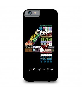 4 friends printed mobile cover