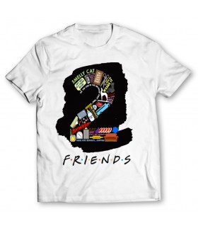 2 friends printed graphic t-shirt