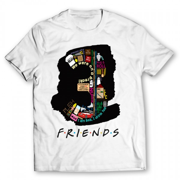 3 Friends Printed Graphic T-shirt