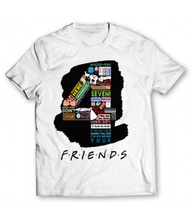 4 friends printed graphic t-shirt