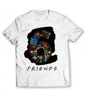 6 friends printed graphic t-shirt