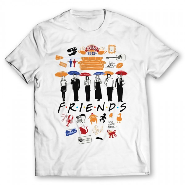 Friends Printed Graphic T-shirt