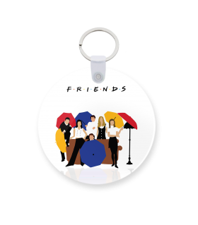 friends printed keychain