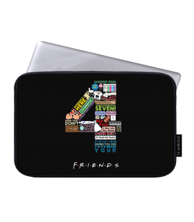 4 friends printed laptop sleeves