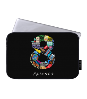 8 friends printed laptop sleeves
