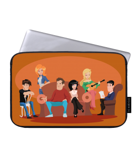 friends printed laptop sleeves