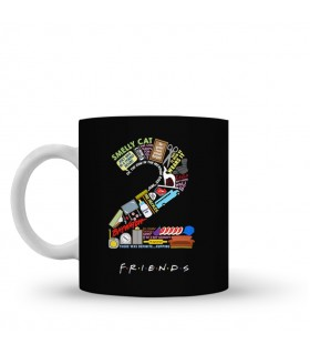 2 friends printed mug