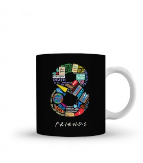 8 friends printed mug