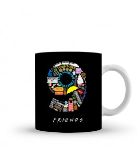 9 friends printed mug