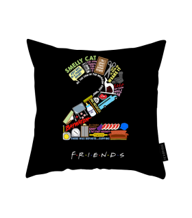 2 friends printed pillow
