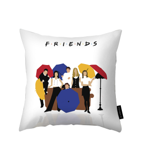 friends printed pillow