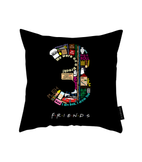3 friends printed pillow