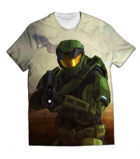 Halo all over printed t-shirt