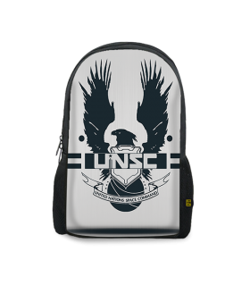 Halo printed backpacks