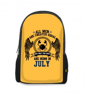 july printed backpacks