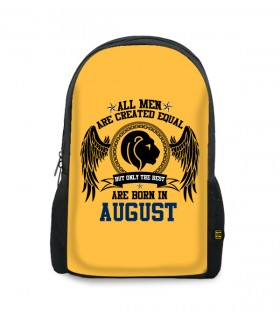 august printed backpacks