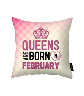 february printed pillow