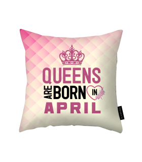 april printed pillow