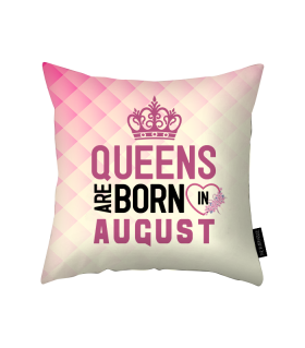 august printed pillow