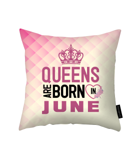 june printed pillow