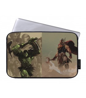 thor and hulk printed laptop sleeves