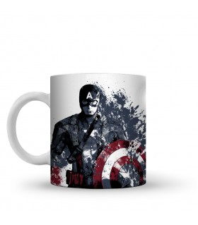 captain america printed mug