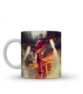 iron man printed mug