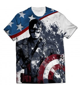 Captain America All Over Printed T Shirt