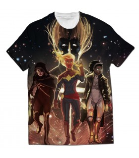captain marvel all over printed t-shirt