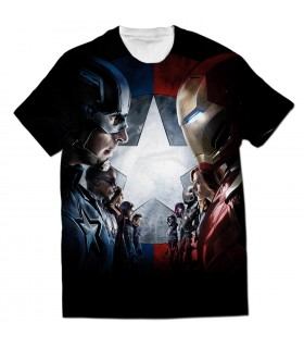 civil war all over printed t-shirt
