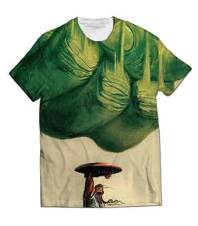 shield and hulk all over printed t-shirt