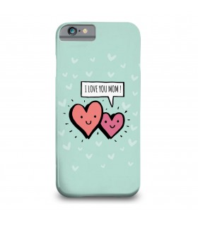 i love you mom printed mobile cover