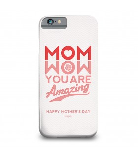wow mom printed mobile cover