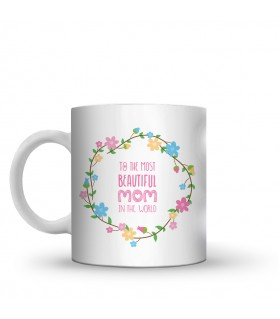 beautiful mom printed mug