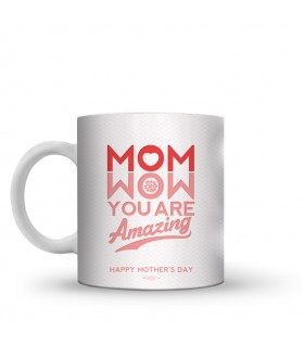 wow mom printed mug