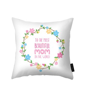 beautiful mom printed pillow
