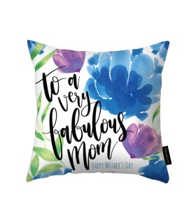 fabulous mom printed pillow