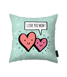i love you mom printed pillow