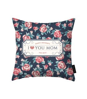 love you mom printed pillow