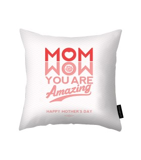 wow mom printed pillow