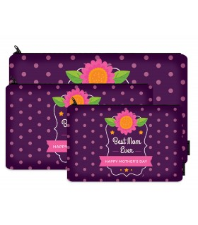 best mom ever printed makeup pouch