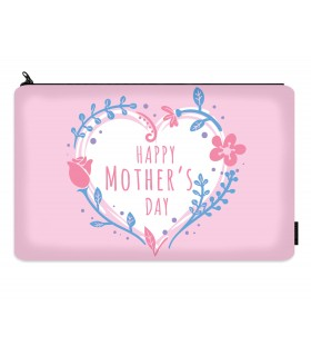 happy moms day printed makeup pouch