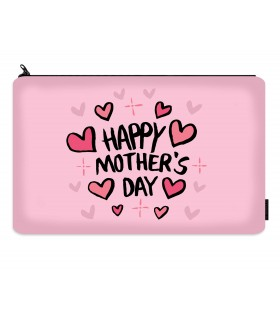 happy mothers day printed makeup pouch