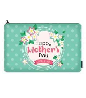 happy mothers day which love printed makeup pouch