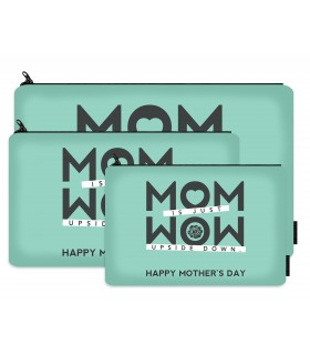 mom is just wow printed makeup pouch