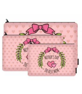 mothers day printed makeup pouch