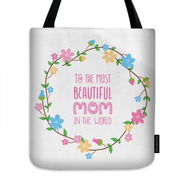 Beautiful Mom Printed Tote Bag