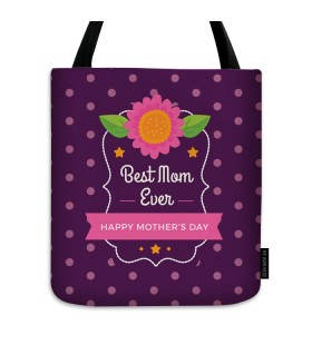 best mom ever printed tote bag