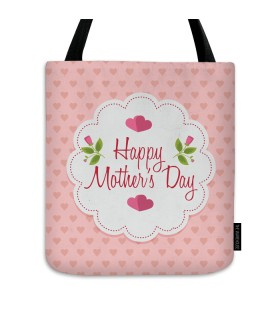 happy mothers day love printed tote bag