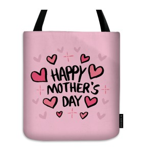 happy mothers day printed tote bag